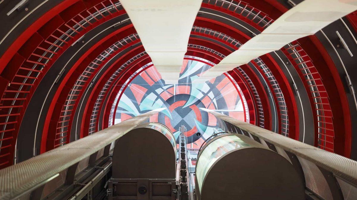Vista de ascensor panorámico - Ascensores Abando