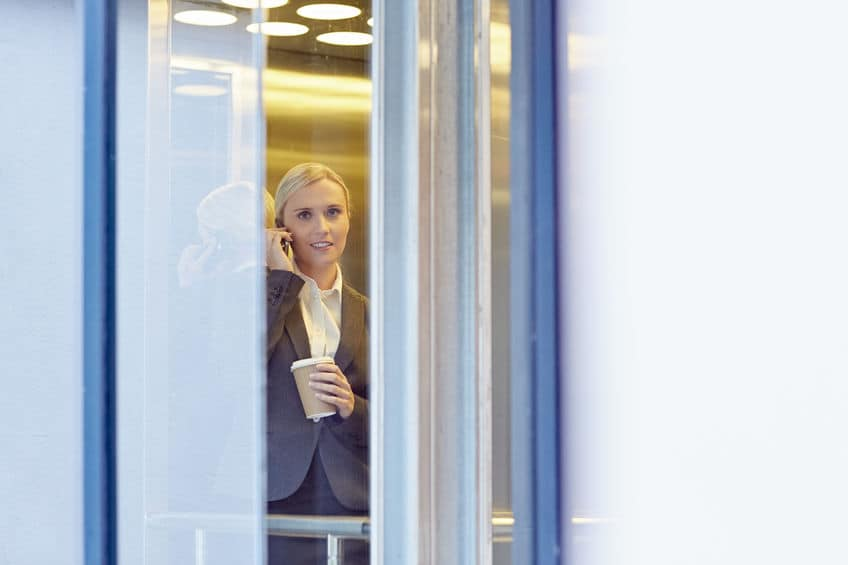 Cobertura en un ascensor